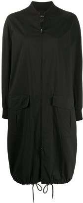 DKNY Zipped Long Bomber Jacket