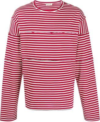 Marni striped long-sleeved T-shirt