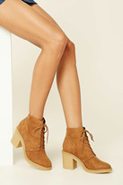 Forever 21 FOREVER 21+ Faux Suede Ankle Booties