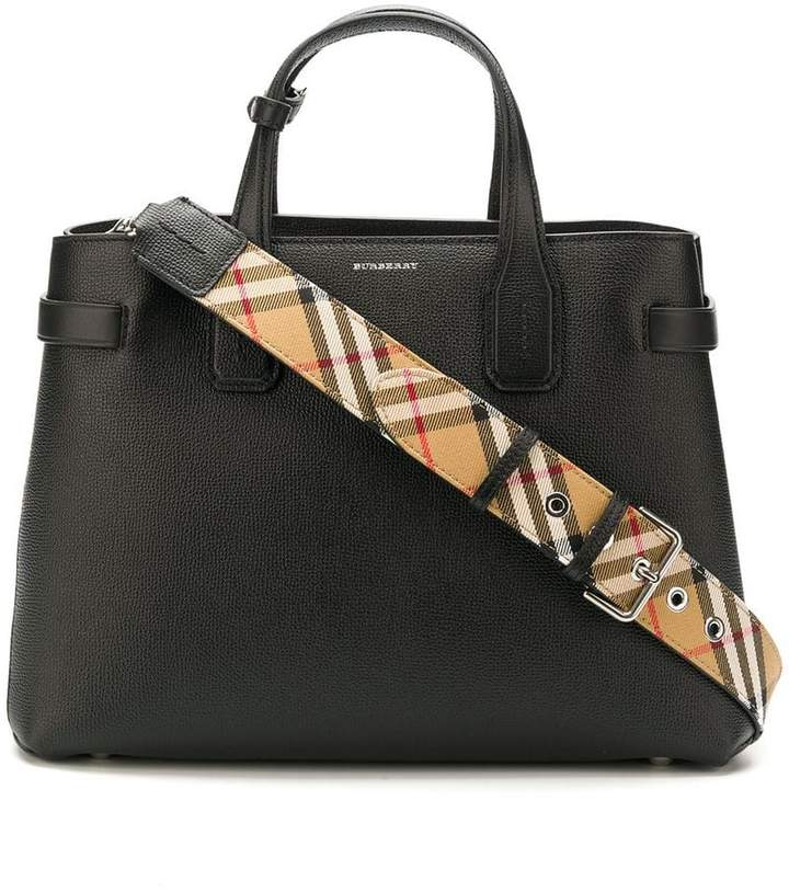 Burberry The Medium Banner in Leather and Vintage Check