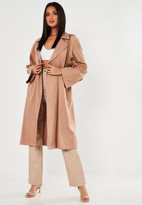 Missguided Blush Oversized Duster Coat