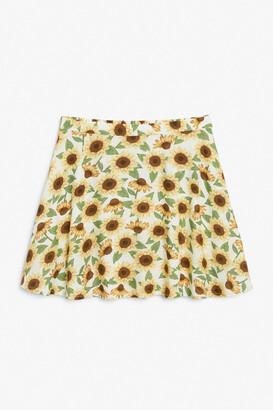 Monki Flowy mini skirt