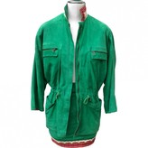 Gianni Versace Green Suede Jacket for Women Vintage