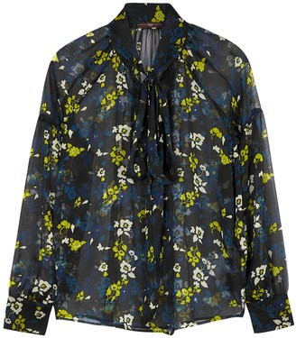 High Perception floral-print georgette blouse