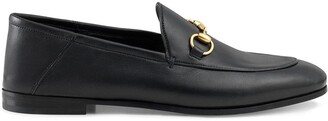 Gucci black Brixton Horsebit leather loafers