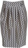 Pleat detail skirt