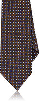 Isaia Men's Abstract-Dot-Pattern Necktie-BROWN