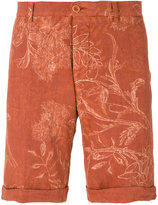 Etro floral print chino shorts - men - Linen/Flax - 46