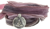 Catherine Michiels New Sanctuary Silver Charm & Silk Bracelet Wrap