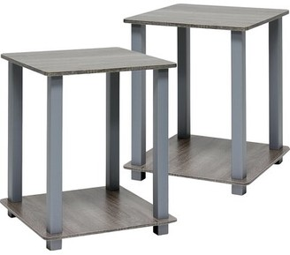 Zipcode Design Annie End Table Set Color: French Oak/Gray