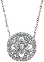 Giani Bernini Cubic Zirconia Round Pendant Necklace in Sterling Silver, Only at Macy's