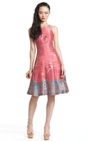 Tracy Reese Pink Wallpaper Combo Frock