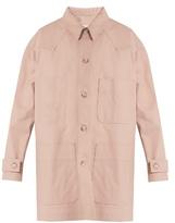 Maison Margiela Point-collar patch-pocket denim coat