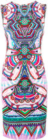 Roberto Cavalli geometric print bodycon shift dress