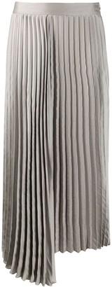 Luisa Cerano pleated asymmetric hem skirt