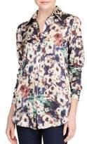 Lauren Ralph Lauren Kristy Satin Button-Down Shirt