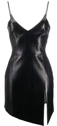David Koma front-slit fitted cocktail dress