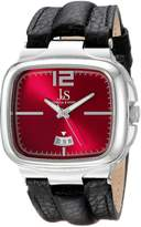 Joshua & Sons Men's JX117RD Square Dial Three Hand Quartz Strap Watch