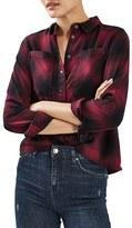 Topshop Women's Buffalo Check Shirt