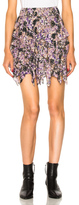 Etoile Isabel Marant Jocky Flowers Camouflage Mini Skirt in Purple.Abstract.