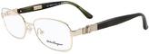 Salvatore Ferragamo Gold Eyeglass Frames