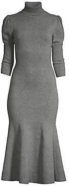 Michael Kors Women's Puff Sleeve Cashmere Sweater Dress