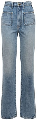 KHAITE Isabella Straight Cotton Denim Jeans