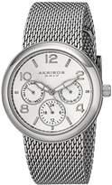 Akribos XXIV Women's AK559SS Multi-Function Stainless Steel Watch with Mesh Bracelet