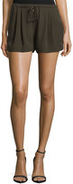 Haute Hippie Mid-Rise Summer Shorts, Military