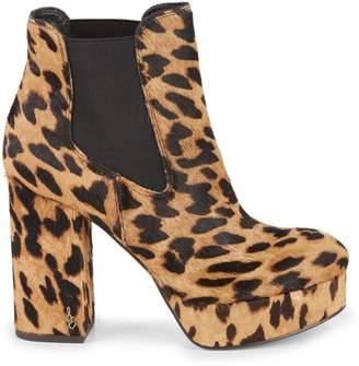 Sam Edelman Abella Leopard-Print Calf Hair Chelsea Boots