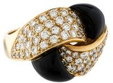 Ring 18K Diamond & Onyx Twist