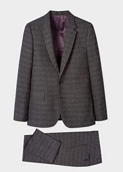 The Soho - Men's Tailored-Fit Grey Tweed Wool Suit