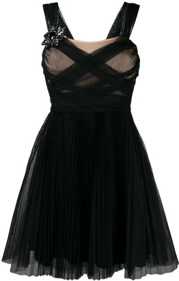 Pinko sheer ruched dress