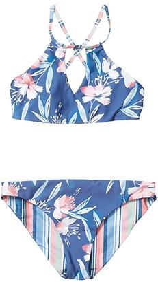 Splendid Littles Painted Desert Reversible High Neck Reversible Retro Set (Big Kids) (Multi) Girl's Swimwear Sets