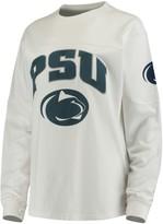 Unbranded Women's White Penn State Nittany Lions Edith Long Sleeve T-Shirt