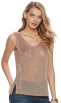 Juicy Couture Women's Metallic Mesh Tank
