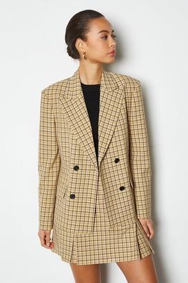 Karen Millen Shadow Check Double Breasted Jacket