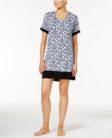 DKNY Contrast-Trimmed Printed Sleepshirt, A Macy's Exclusive Style