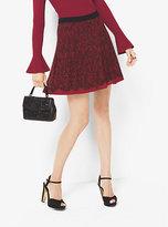Michael Kors Lace-Print Chiffon Skirt