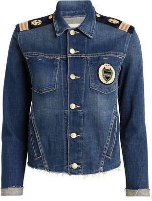 L'Agence Janelle Slim Crest Denim Jacket