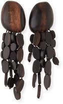 Viktoria Hayman Tiered Wood Chandelier Earrings