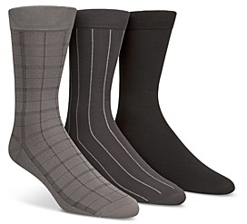 Calvin Klein Windowpane Socks, Set of 3