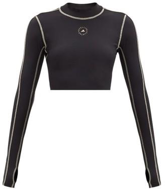 adidas by Stella McCartney Truepurpose Recycled Fibre-blend Crop Top - Black