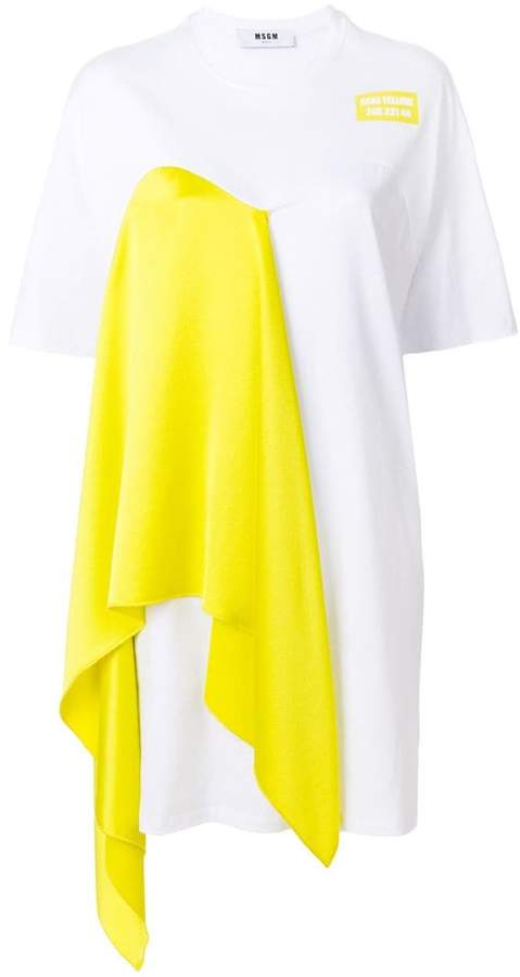 MSGM draped T-shirt dress