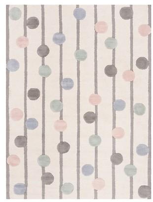 Safavieh Polka-Dot Hand-Tufted Wool Area Rug