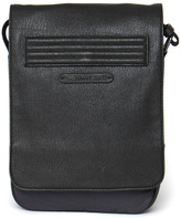 Armani Jeans Black & Grey Tablet Messenger Bag