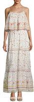 Joie Vernita Floral-Print Popover Maxi Dress, White Pattern
