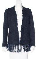 By Malene Birger Fringe-Trimmed Tweed Jacket w/ Tags