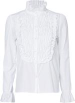 See by Chloé Smocked Bib Poplin Shirt