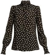 Isabel Marant Sloan leaf-print silk blouse